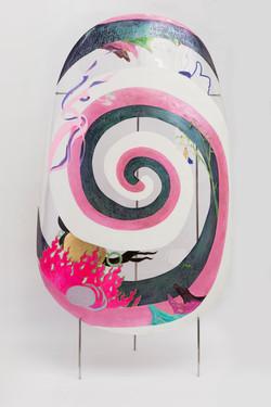 巨甲阵-卍字谜   综合材料    105×205cm    2016