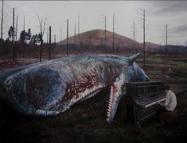 《荒梦狂想》系列NO.5 布面油画 215x280cm 2012
