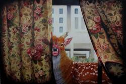 凶鹿系列  布面油画  100x150cm  2013  6万-7.5万