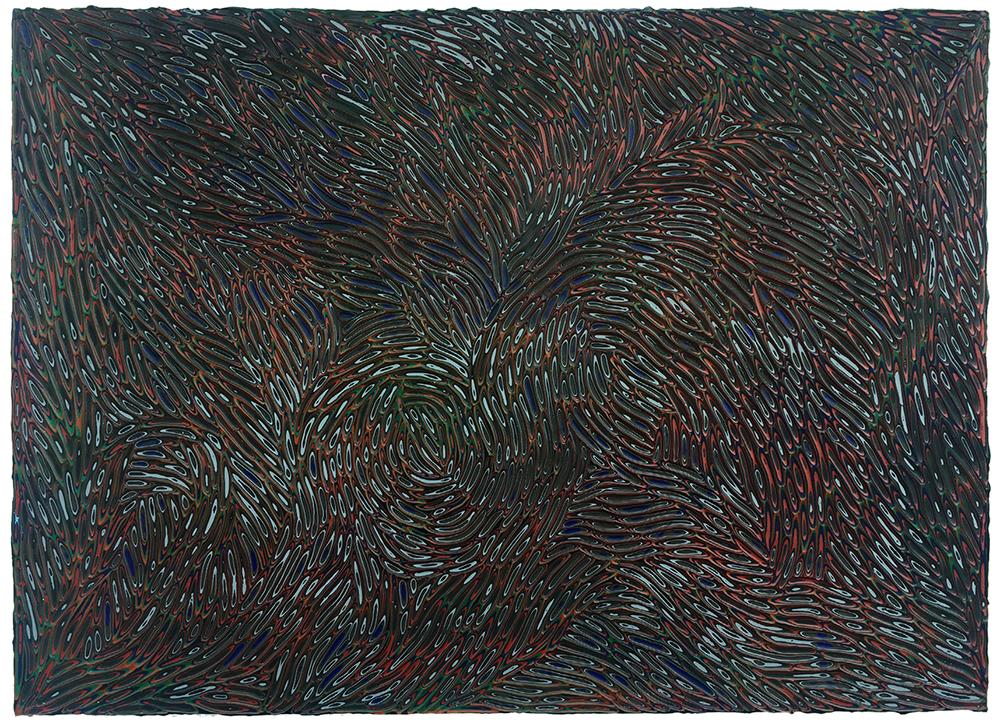《绘画92—星空》木板丙烯 40x60cm 2018