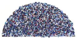 五月 木板裱纸..丙烯.油画.媒介剂. 58cmX115cm 2012