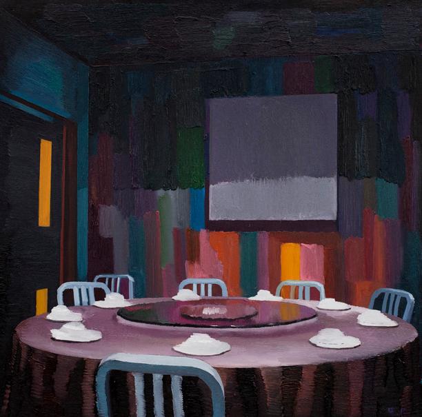 圆桌 布面油画 100x100cm 2012
