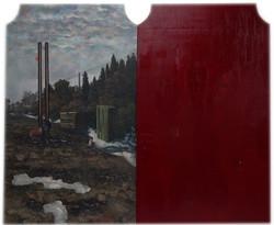 一个矮子-布面油画、木板油画- 300x266cm-2017