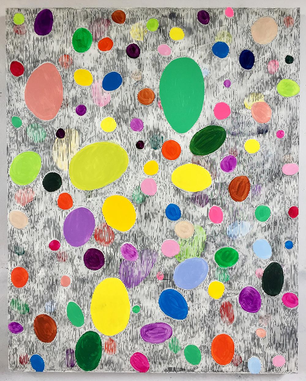 《绘画—鹅卵石1》150x120cm 2018年