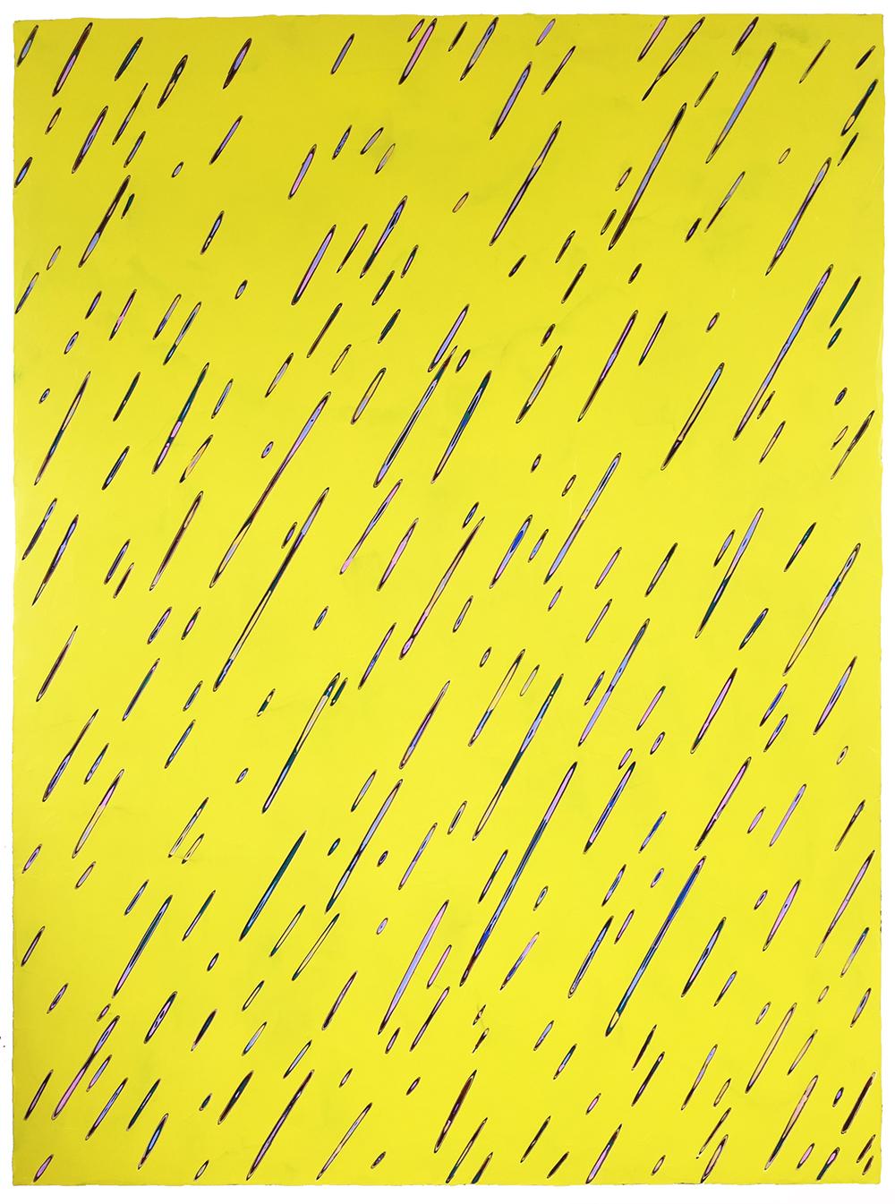 《绘画111—雨》90x120cm 木板丙烯2018