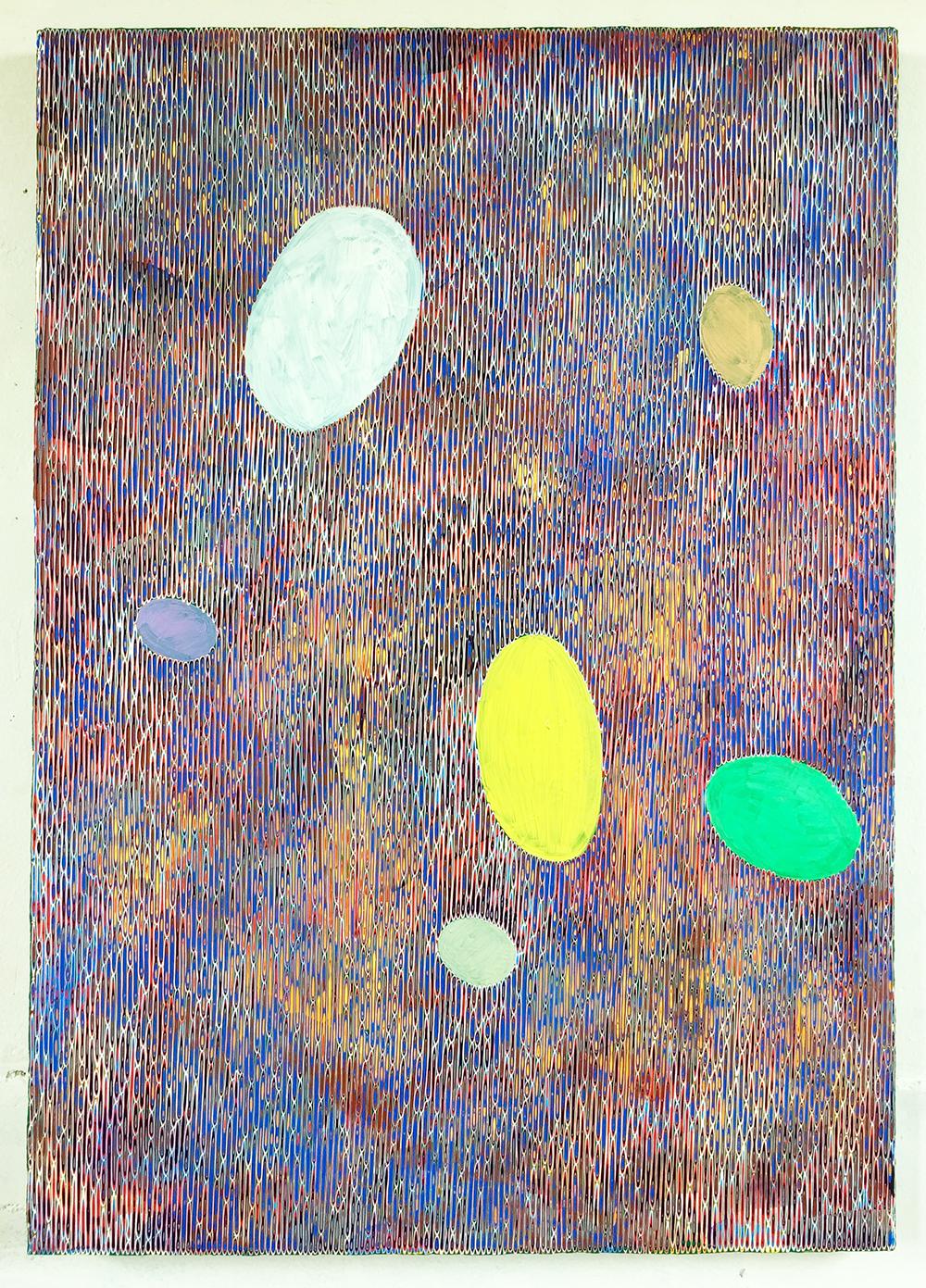 《绘画—鹅卵石15》86x122cm 2018年