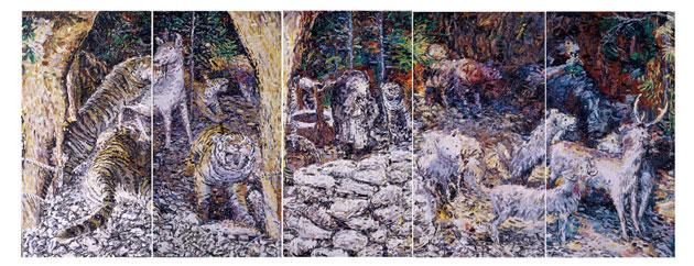 未命名, 秦琦, 布面油画, 350 x 900cm, 2007