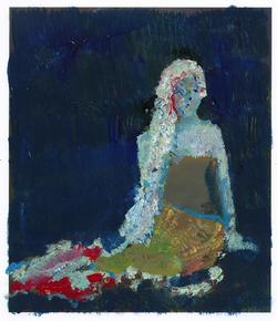 田寒 美人鱼 纸上丙烯,29x21cm,2012.