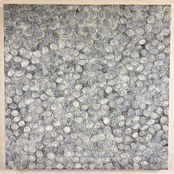 《绘画—鹅卵石16》120x120cm 2018年