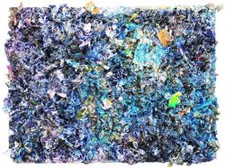 感应 木板裱纸..丙烯.服装辅料.媒介剂. 96cmX72cm 2012