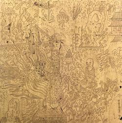 无量寿世界5 纯金箔上绘 13X13CM 2013