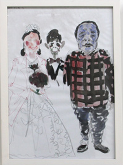 董天昊 老同学的婚礼 综合材料 44.5 x32.5cm 2013
