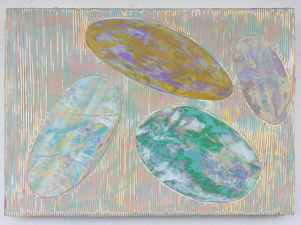 《绘画79—鹅卵石》木板丙烯 50x60cm 2018年