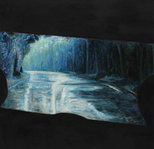 后视镜NO.34 布面油画 45x45cm 2010