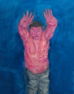 杨毓麟 作品44 布面油画 190x110cm 2012