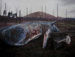 《荒梦狂想系列No.5》  布面油画 215x280cm 2012
