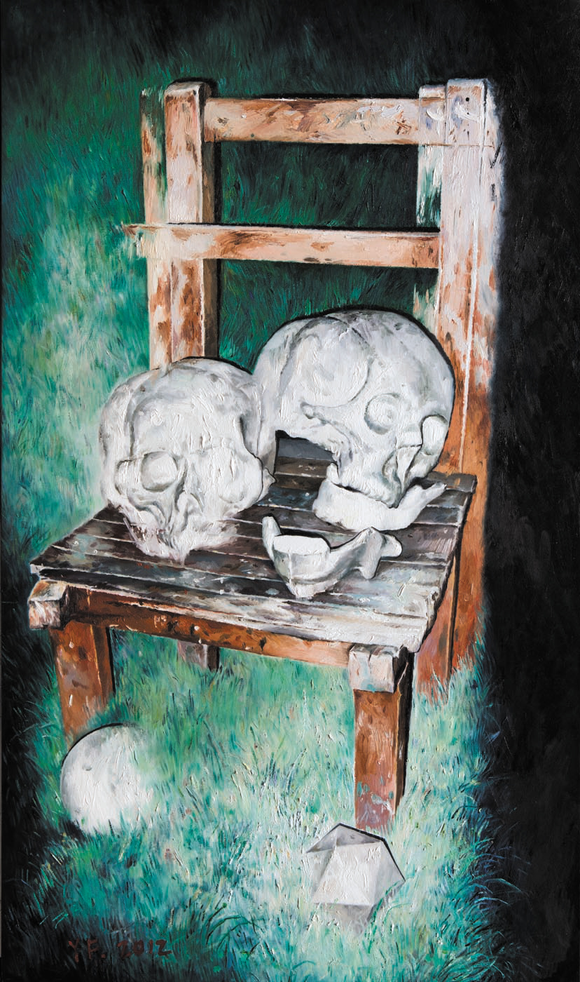 木椅与头骨 Wooden Chair and Skull