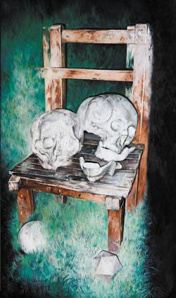 木椅与头骨 Wooden Chair and Skull