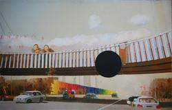 怪坡分析, 张慧, 布面油画, 320 x 210cm / each,