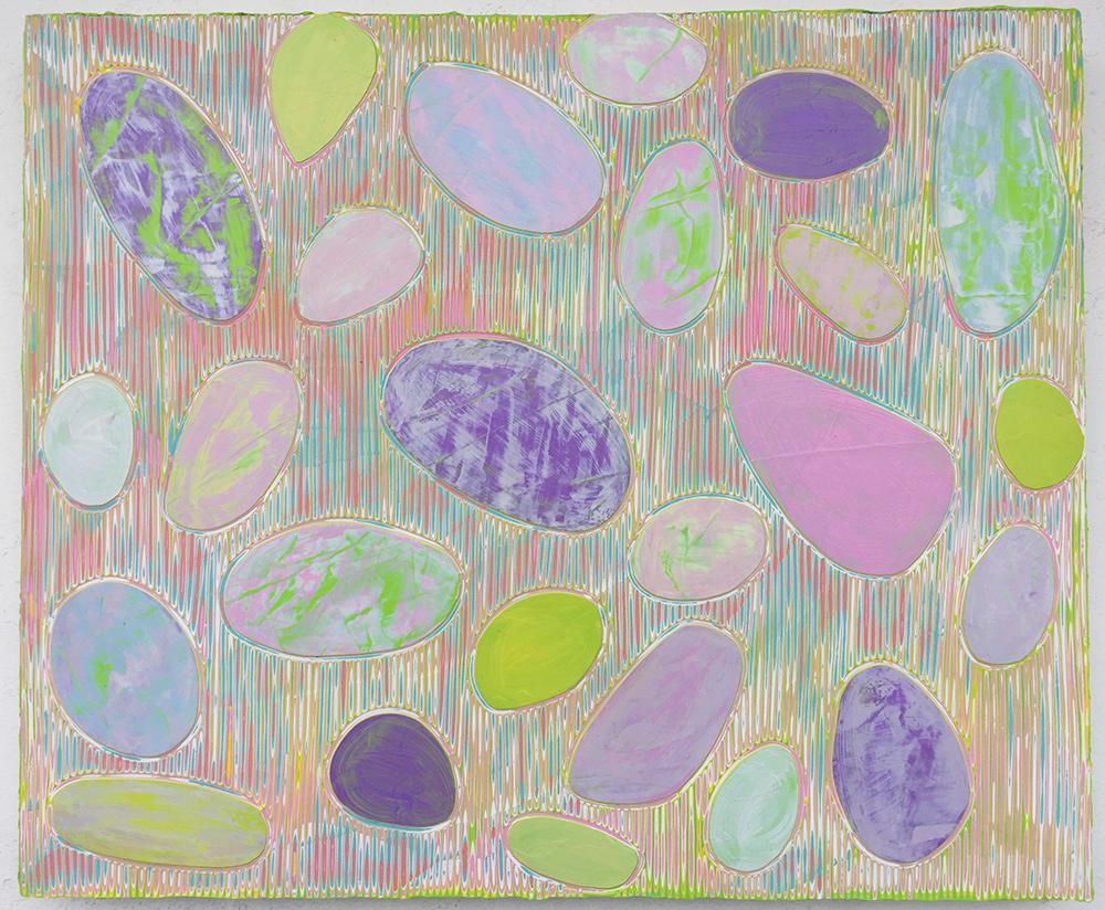 《绘画78—鹅卵石》木板丙烯 50x60cm 2018年