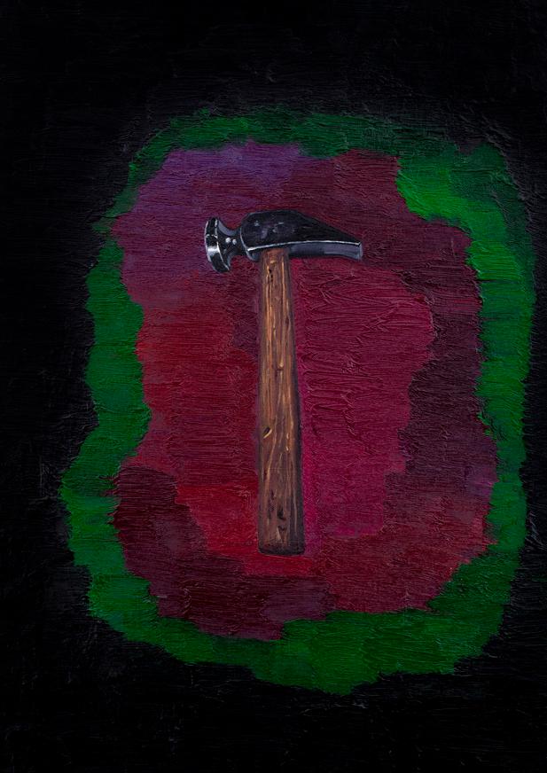 锤子 布面油画 90x60cm 2011