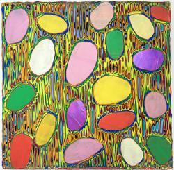 《绘画76—鹅卵石》布面丙烯 30x30cm2018