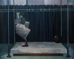 帷幔 布面油画  170x210 cm 2011