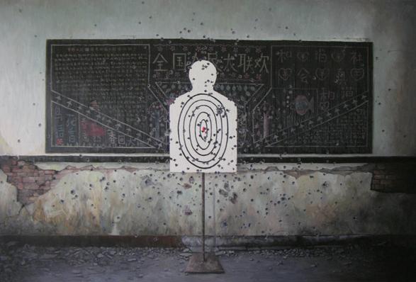 《人民大教室》 布面油画 180x270cm 2011