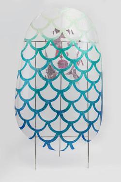 巨甲阵-美人鱼   综合材料    105×205cm   2016