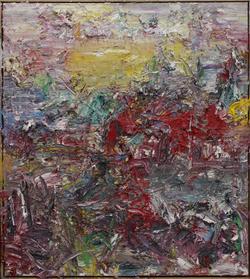 《2014抽象作品w22号》. 尺寸: 145x130cm材料:布上油画