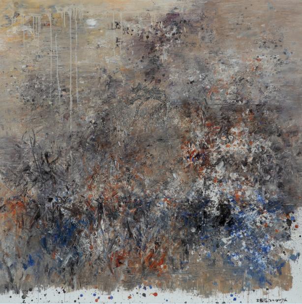 2010年《关于浅绛的绘画12号》,200cmx200cm,布面油彩,王易罡