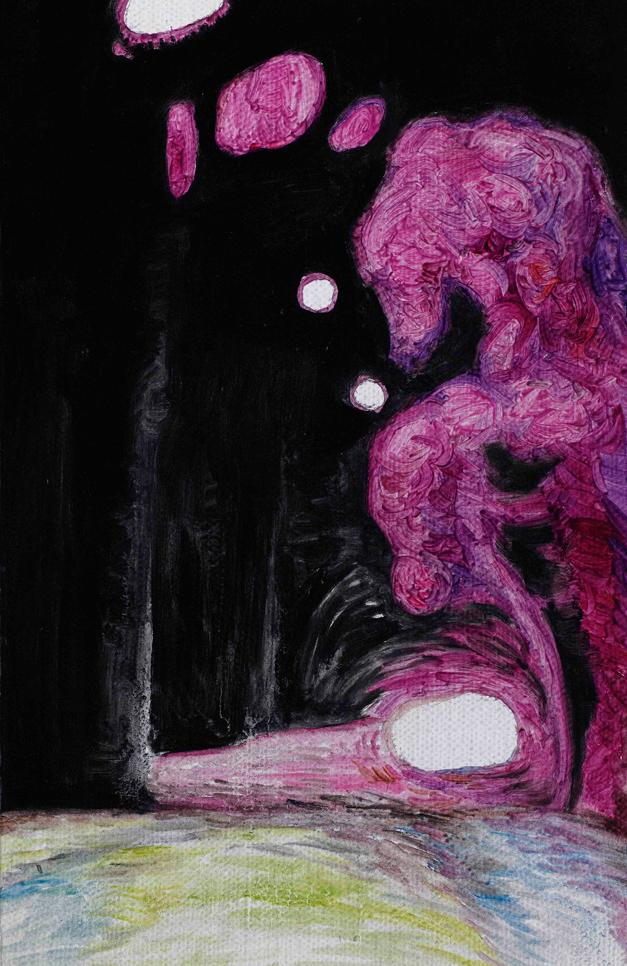 后视镜·窗外NO.16 布面油画 27.2x16cm.2010
