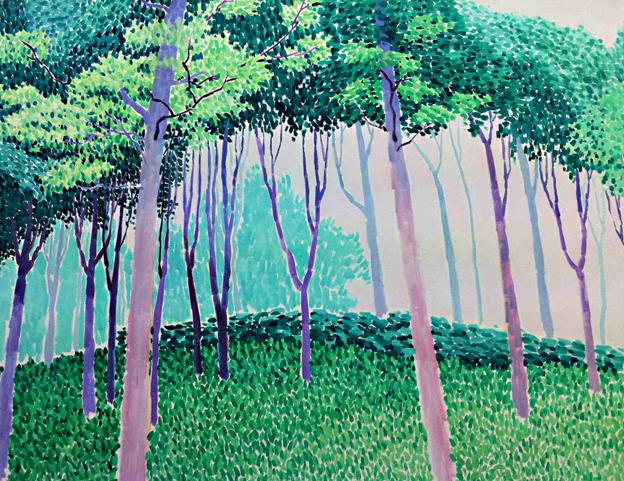公园小品2 布面油画 80x100 2011
