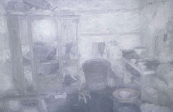 房间3, 徐舜, 布面油画, 220 x 330cm, 2008
