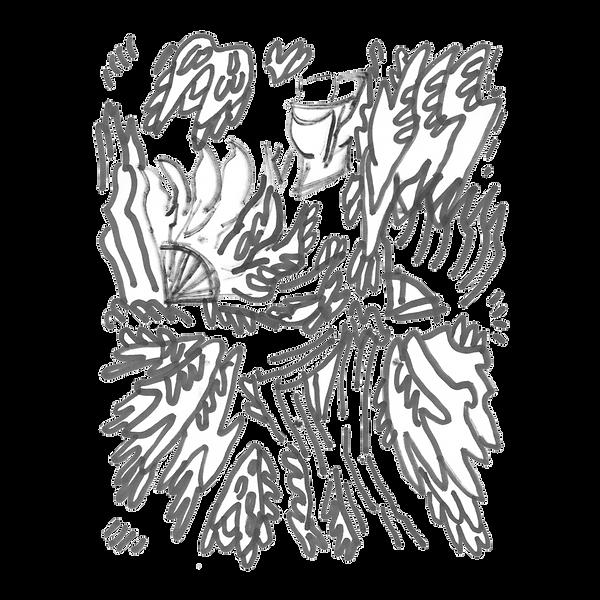 Maken X 4, Marker on paper card, Beijng, 2019