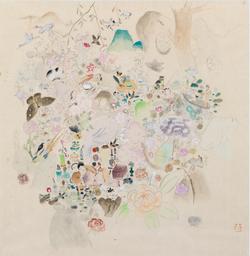《玉梧》纸本设色35.5x37cm 2016