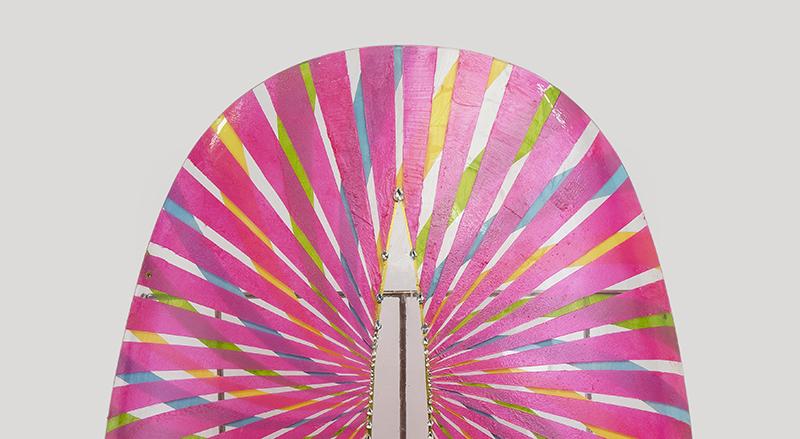 巨甲阵-光芒万丈(局部)   综合材料    115×215cm   2016