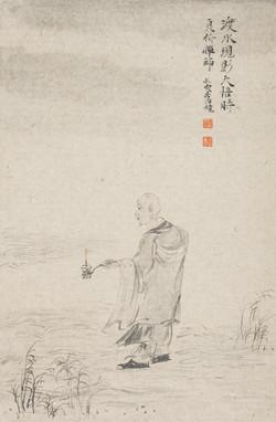 禅林宝相册 纸本水墨 22x34cm 10