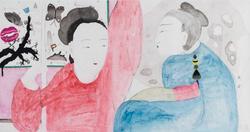 王濛莎 东风破 纸本设色 75×143cm 2014