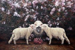 分食--盛宴  布面油画  160x240cm  2013