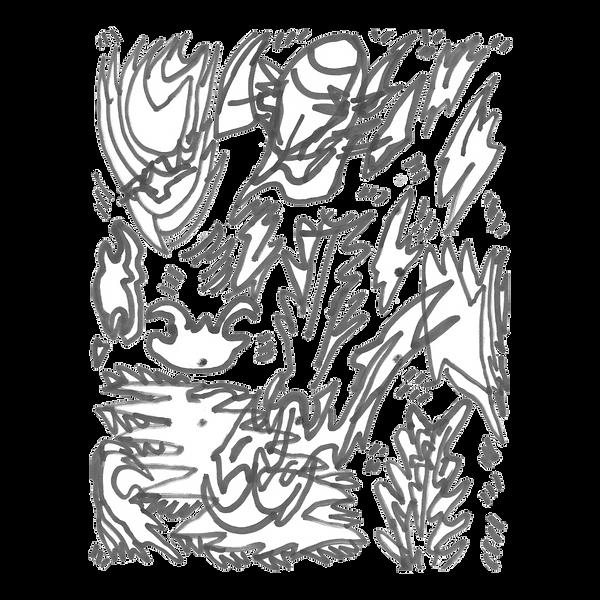Maken X 9, Marker on paper card, Beijng, 2019