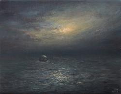 北海伯18cmx14cm布面油画2017年。