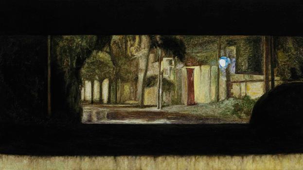 后视镜NO.11 布面油画 30.4x54cm 2011