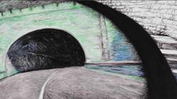 后视镜·隧道NO.22 布面油画 30.4x54cm.2011