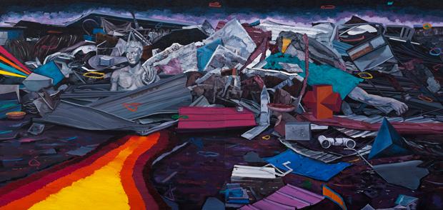 废铁镇2 布面油画 170x360cm 2012