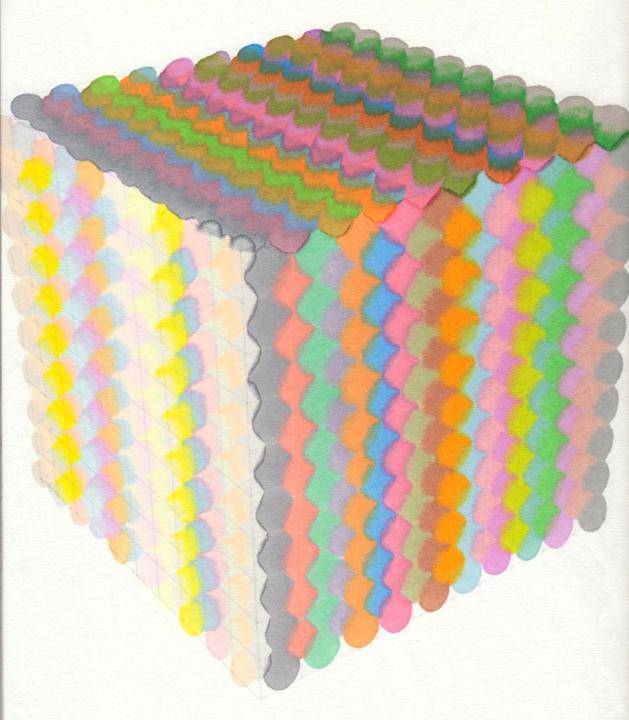 Cube3v 纸上马克笔 31x34.5cm 2012