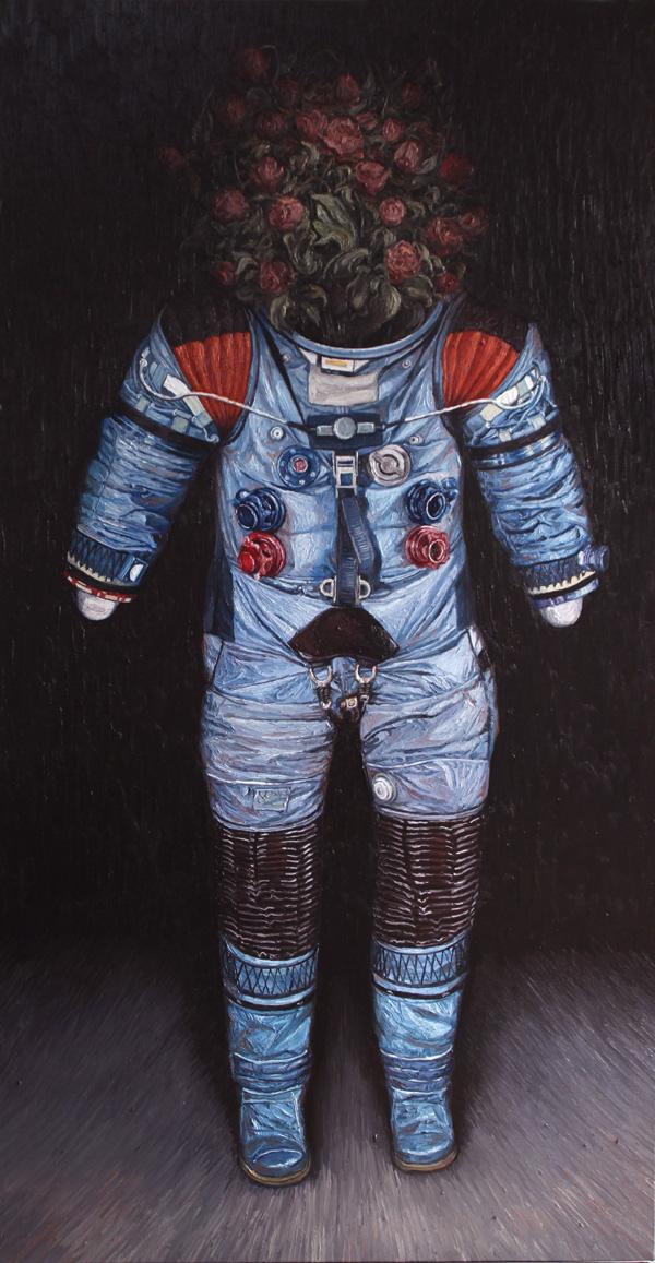 《荒梦狂想系列No.3》  布面油画 190x100cm 2012