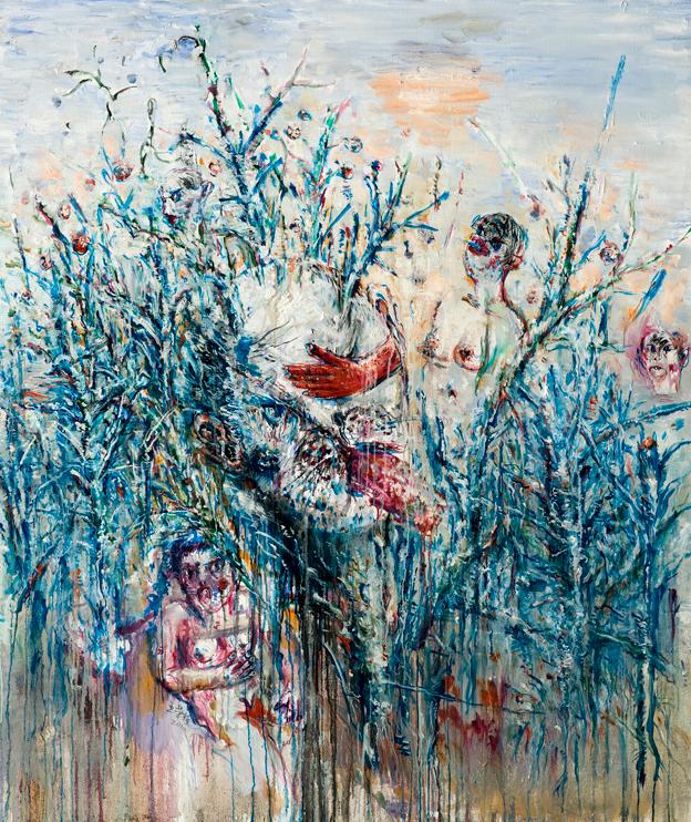 王荣植 大头 布面油画 175x150cm 2010