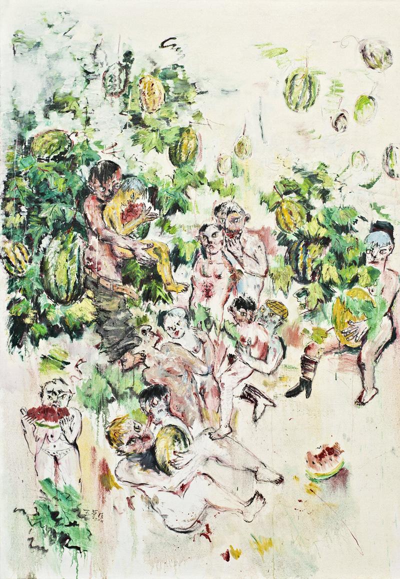 瓜地情结NO2 200X140CM 王荣植 布面油画 2011