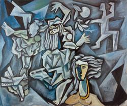 1985年《冰上的梦》,120.5cmx90cm,布面油画,王易罡